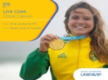UniFavip promove palestra com surfista Chloé Calmon para falar sobre superação de desafios