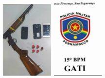 Polícia Militar apreende arma de fogo no sítio de Xucuru