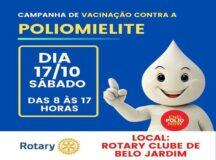 Rotary Clube realiza campanha de vacinação contra a poliomielite neste sábado em Belo Jardim