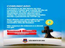 São Bento do Una irá abrir os cemitérios municipais
