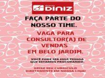 Óticas Diniz abre vaga para consultor de vendas em Belo Jardim