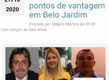 Gilvandro Estrela lidera disputa para prefeitura de Belo Jardim