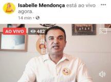 Nilton participa de live da majoritária e reforça preferência de João Mendonça pelo candidato
