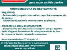 Empresa de RH anuncia vaga de emprego para Belo Jardim