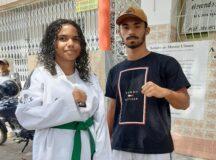 Atletas de Taekwondo vendem bolo de rolo para arrecadar dinheiro em Belo Jardim