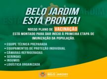 Belo Jardim inicia a vacinação contra a Covid-19