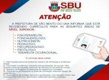 Prefeitura de São Bento do Una abre seleção para vagas temporárias