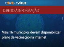 MPPE faz recomendação para que Recife e mais 15 cidades divulgue dados sobre vacinação