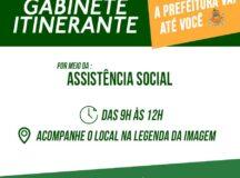 Secretaria de Assistência Social inicia Gabinete Itinerante
