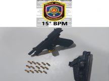 Policiais do 15° BPM prendem arma de fogo na zona rural de Belo Jardim