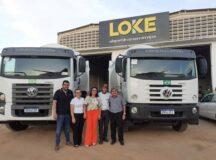Após atuação da prefeitura, Loke cumpre acordo e entrega a Belo Jardim dois novos compactadores e também cesta básica aos funcionários