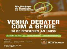 Dia Nacional de Combate ao Alcoolismo é tema de live