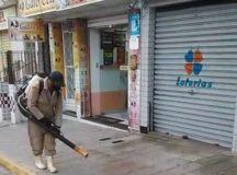 Prefeitura de Belo Jardim utiliza técnica de sanitização em ruas do centro da cidade contra o novo coronavírus