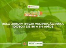 Belo Jardim inicia vacinação para idosos de 80 a 84 anos