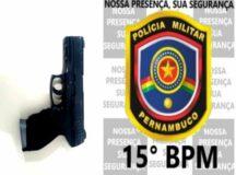 Homem é preso com arma falsa após tentativa frustrada de assalto em Belo Jardim