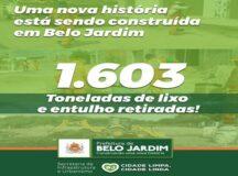 Mutirão Cidade Limpa retira mais de 1,6 mil toneladas de lixo e entulho de Belo Jardim