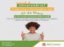 Prefeitura de Belo Jardim cria formulário online para saber o quantitativo de universitários e suas demandas