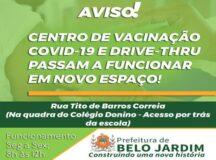Centro de Vacinação Covid passa a atender em novo endereço