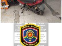 Motocicleta com numeração raspada é recuperada em Belo Jardim