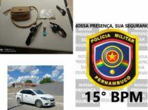 PM prende dois homens com veículo clonado em Belo Jardim