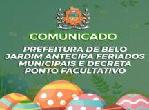 Prefeitura de Belo Jardim antecipa feriados para semana da Páscoa para conter avanço da Covid-19