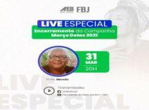 """Último dia do projeto """"Março Delas"""" da AEB, com uma live especial"""