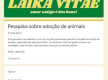 Laika Vitae realiza pesquisa online sobre adoção de pets em Belo Jardim