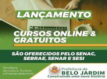 Prefeitura de Belo Jardim divulga cursos online e gratuitos do Sistema S