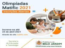Escolas do município poderão participar das Olimpíadas do Matifi