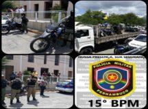 PM realiza operação Varredura em Belo Jardim com apoio da AMTT