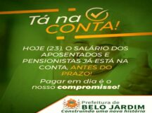 Prefeitura de Belo Jardim antecipa pagamento dos aposentados e pensionistas para esta sexta-feira (23)