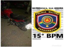 PM recupera moto roubada por meio de sistema de rastreamento em Belo Jardim