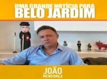 Mentindo para a população, João Mendonça se autointitula 'pai da obra' do Parque Ambiental em Belo Jardim