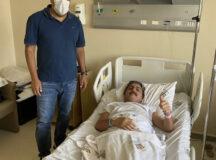 Mendonça Filho visita prefeito Gilvandro Estrela no hospital
