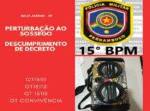 Adolescente é detido por perturbação do sossego em Belo Jardim