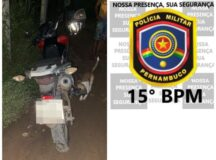 PM recupera moto roubada em Sanharó por meio de sistema de rastreamento