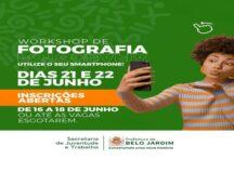 Inscrições para Workshop de fotografia com celular estão abertas em Belo Jardim