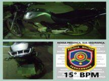 Moto roubada é recuperada no bairro Maria Cristina em Belo Jardim