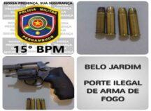 Homem é preso com arma de fogo e munições na Cohab I, em Belo Jardim