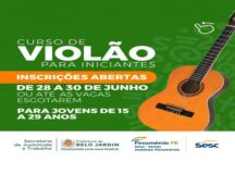 Prefeitura de Belo Jardim oferece curso de violão para iniciantes