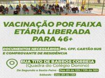Belo Jardim amplia, nesta terça-feira, faixa etária do público geral e dos trabalhadores da indústria e construção civil