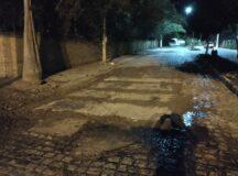 Após denúncia do BJ1, Compesa realiza conserto de placas de concreto na Av. Sebastião Rodrigues da Costa