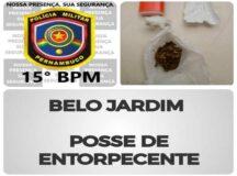 Homem é preso com droga no Centro de Belo Jardim