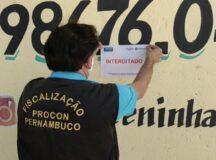 Ação de fiscalização do Procon-PE interdita três estabelecimentos comerciais em Belo Jardim