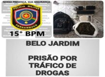 Policia Militar prende traficante na Cohab II, em Belo Jardim