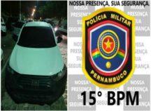 15°BPM apreende carro roubado na BR-232 em Belo Jardim