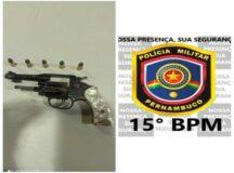 Polícia Militar prende homem por porte ilegal de arma de fogo em Tacaimbó