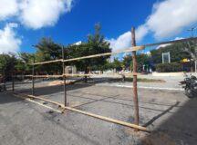Construtora instala tapumes para reforma da Praça da Matriz em Belo Jardim
