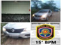 PM apreende carro que pode ter sido usado em homicídio em Belo Jardim