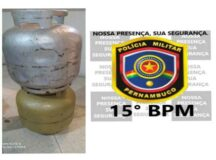 São Bento do Una: Homens são presos pela PM após furtar botijões de gás de cozinha